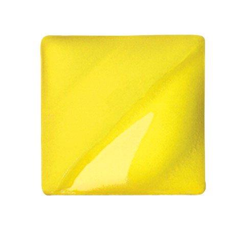 AMACO Velvet Lead-Free Non-Toxic Semi-Translucent Underglaze, 1 Pint, Intense Yellow V-391