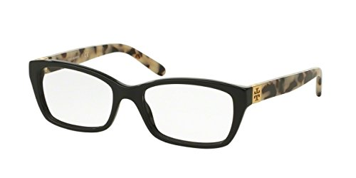 Tory Burch TY2049 Eyeglass Frames 1564-53 - Black/black White Tort