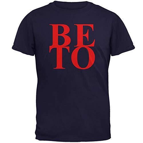 (Election 2020 President Beto O'Rourke Stacked Mens T Shirt Navy 3X-LG)