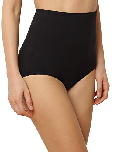 Innersy Women's 3-Pack High Waisted Full Brief Panties Underwear (L, 3 -