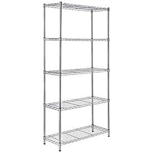 Adjustable 5-Shelves Heavy Duty Rack