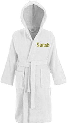 Albornoz con capucha para niños y niñas, 100% algodón, para niños ...
