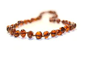 The Art of Cure Baltic Amber Teething Necklace for Baby (brown) - Anti-inflammatory …