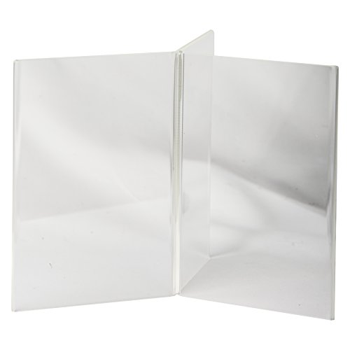 Clear-Ad - LHK-46 - Acrylic 6-Sided Restaurant Menu Table Stand in Bulk (Pack of 20) (Clear Restaurant Menus compare prices)