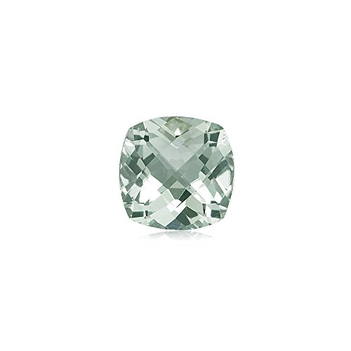 2.30-2.89 Cts of AAA 9 mm Cushion Checker Board Green Amethyst ( 1 pc ) Loose Gemstone (Green Stone Amethyst Cut)