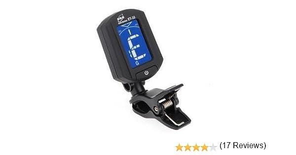 ET-33 Afinador de guitarra, Bajo, Violín, Ukelele, Mini Clip, con pantalla LCD, cromático (Negro): Amazon.es: Instrumentos musicales