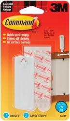 Bulk Buy: 3M Command Strip Sawtooth Picture Hangers 1 Hanger & 2 Large Strips 17040-3M (3-Pack)