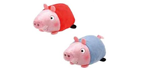 Ty Peppa Pig and George Pig Teeny Stackable Plush Set]()