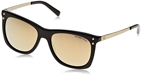 Michael Kors Women's Lex MK2046 54mm Black/Liquid Gold - Liquid Sunglasses
