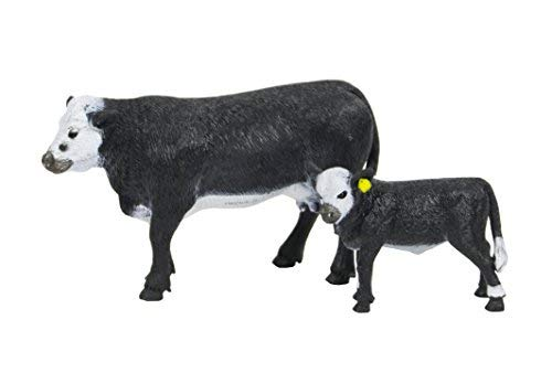 - Big Country Toys Black Baldy Cow & Calf - 1:20 Scale - Hand Painted - Farm Toys - Farm Animals