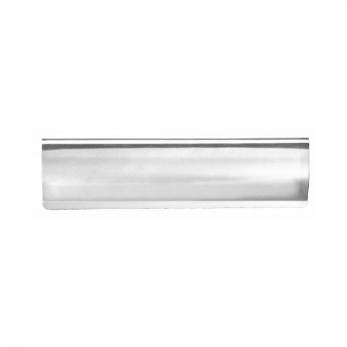 Carlisle Brass AA52SSCP Curved letter tidy 300mm x 95mm chrome on s/steel - Silver