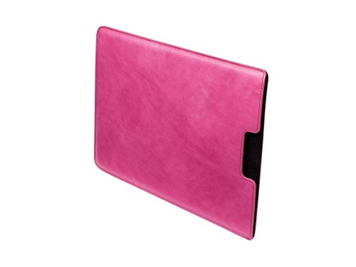 Leather MacBook 12'' Sleeve by Danny P. (Pink) by Danny P. leather accessories