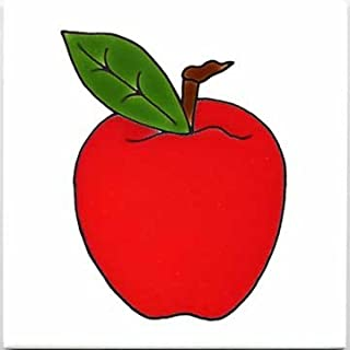 product image for Fruits-VEGETBLES-TRIVETS-Wall PLAQUES-Apple Tile by Besheer Art Tile, Bedford, New Hampshire, U.S.A.
