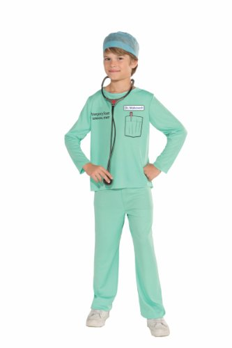 [Forum Novelties Emergency Room Surgeon Costume, Child Small] (Cool Halloween Costumes Boys)