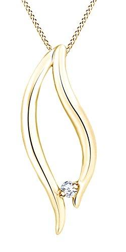 Yellow Gold Diamond Wishbone - 1