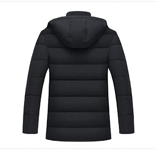 Black Down Coat Keep Hood Warm Energy Winter Thick Mens Casual Removeable qFwvpf