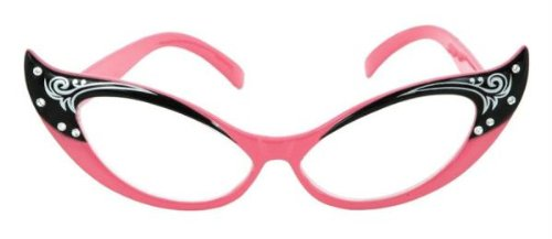Elope Vintage Cat Eye Glasses - Pink Cat Eye Glasses