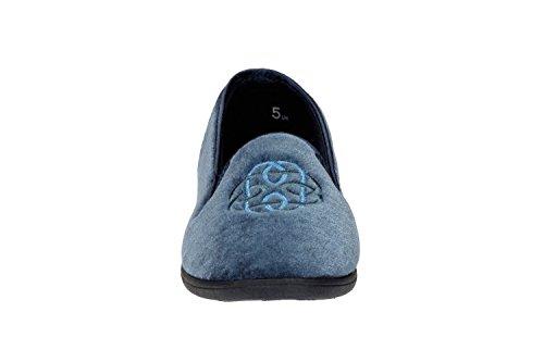 Clarks Womens Marsha Marlo Slippers Blue 2ONm1nbo2