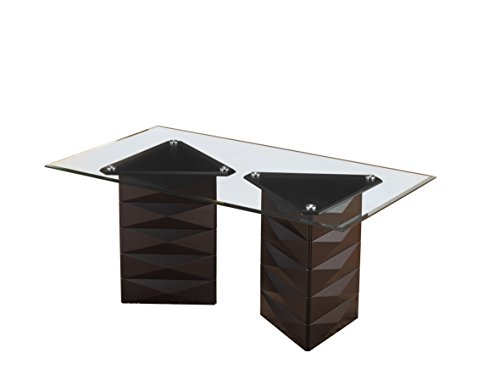 Kings Brand Furniture - Emerson Glass/Wood Dinette Dining Room Table, -