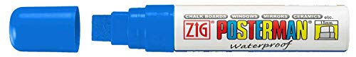 Windshield Paint Markers (15 mm tip) - Car Window Paint Pens for Glass (Blue)