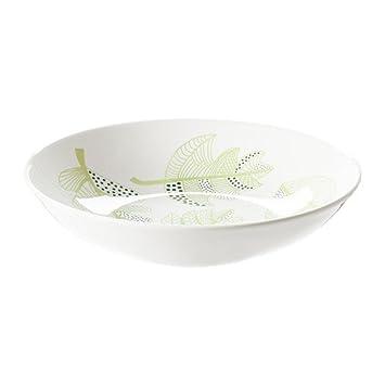 nouveau concept d4127 128b8 IKEA OVERENS - Assiette creuse, blanc, vert - 24 cm: Amazon ...