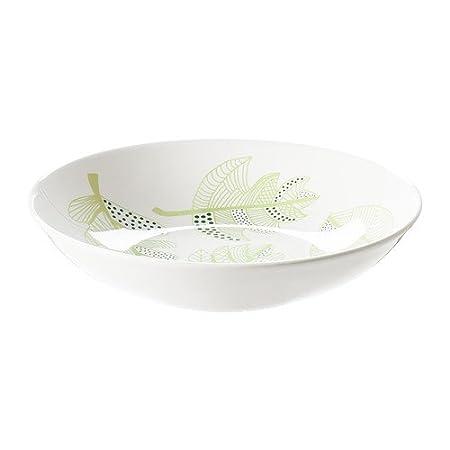 IKEA OVERENS - Deep plate, white, green - 24 cm: Amazon.co.uk ...