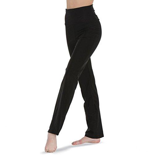 Gia-Mia Dance Women's High Waist Pant Yoga Jazz Hip Hop Costume Performance Team, Black, L