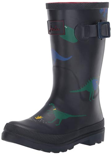 Joules Boys Welly Rain Boot, Dino Scouts, 9 Medium UK Little Kid (10 US)
