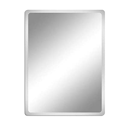 Bedroom Living Room Vanity FANYUSHOW 23.6 x 31.5-inch Frameless Rectangle Wall Mirror for Bathroom