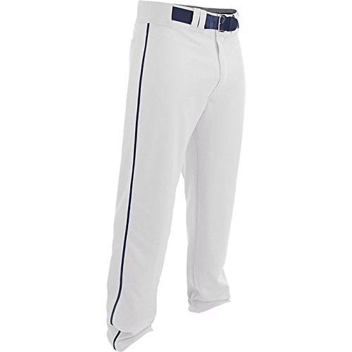 EASTON RIVAL 2 Baseball Softball Pant | Adult | Medium | White Navy | 2020 | Double Reinforced Knee | Elastic Waistband w/ 2 Color Internal Easton Logo | 2 Batting Glove Pockets | 100% Polyester