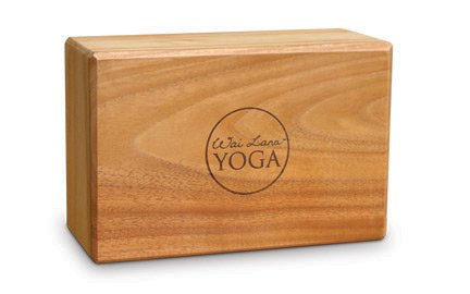 """Wai Lana Teak Yoga Block, 4"""""""