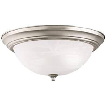 Progress Lighting P3925-09 Two Light Flush Mount, Brushed Nickel ...