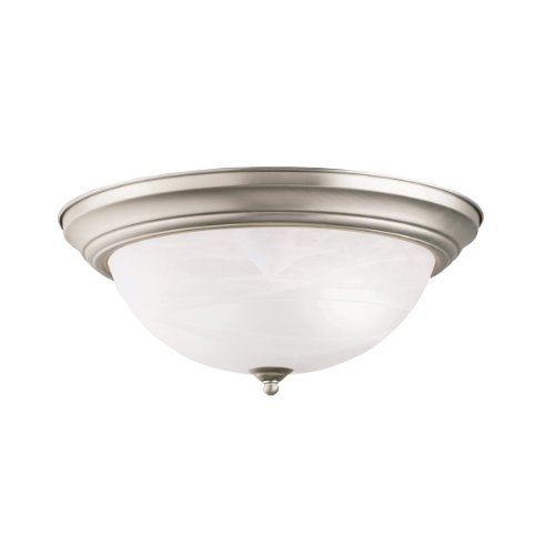Kichler 8110NI Flush Mount 3-Light, Brushed Nickel Functional Three Light