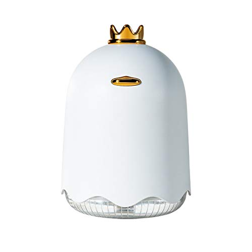 Anti Water Usb - YUBINK Mini Humidifier|USB with Night Light Humidifier|250ML Humidifier Anti-Dry Burning - Support Timed Water Shortage, Automatic Power Off, Flameproof (White)