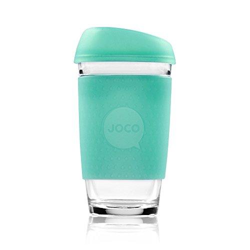 JOCO Glass Reusable 16oz Coffee Cup (Vintage Green Sea Glass)