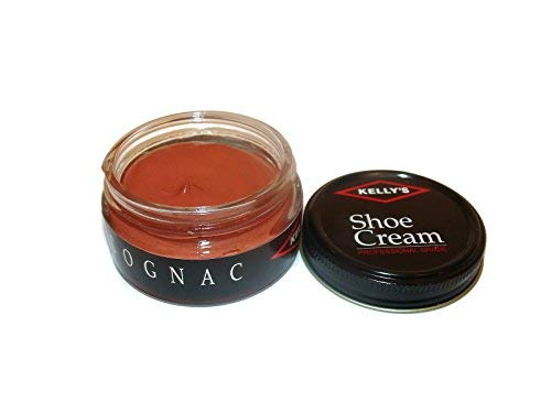 Made in USA Kelly's Shoe Cream Leather Polish Many Colors, Cognac, Size 1.5Oz Jh
