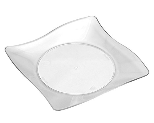"WNA APTSQ4 Petites Square Plastic Plates, 4"", Clear (Pack of 200)"
