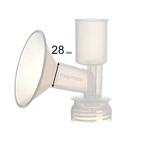 Maymom Breast Shield Flange for Ameda Breast Pumps (28 mm, Large, 1-Piece) by Maymom