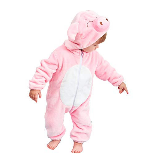 Unisex Kids Baby Pig Cosplay Halloween Costumes Cartoon Outfit One Piece Homewear -