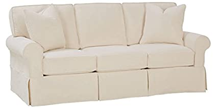 Amazon.com: Christine Off White Cotton Twill Slipcovered Queen Sleeper Sofa  Bed With Machine Washable Slipcover: Kitchen U0026 Dining