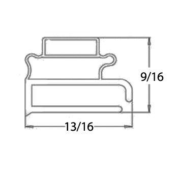 Delfield 1702144 Door Gasket 24-13/16'' X 27-1/4'' Type R Magnetic For Delfield 403 406 407 741014