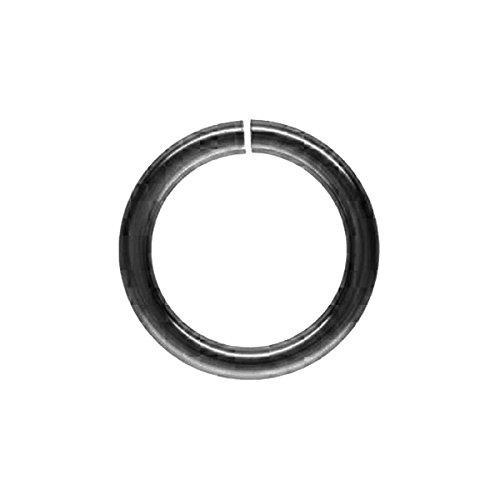 Black Rhodium Overlay Open Jump Ring JOR-100-5MM