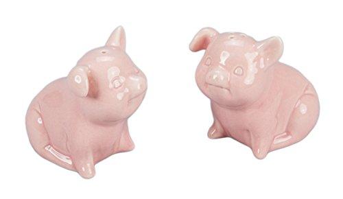 (BIA Cordon Bleu Whimsical Porcelain Salt & Pepper Shakers (Pink Pig Shaped Set))