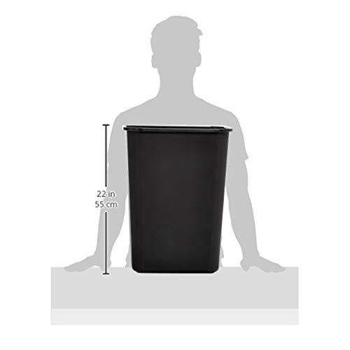 AmazonBasics 10 Gallon Commercial Waste Basket, Black, 12-Pack by AmazonBasics (Image #7)