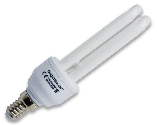 Aigostar 100711 – spaarlamp T2 2U 7 W, kleine schroefdraad en koel daglicht, A, 230 V, E14