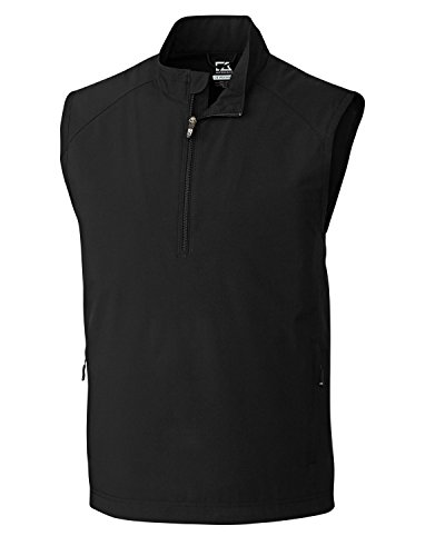 Cutter & Buck Men's Cb Weathertec Summit Half-Zip Vest, Black, - Buck Lightweight Cutter & Vest
