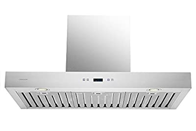 "CAVALIERE 36"" Inch Range Hood Wall Mounted Stainless Steel Kitchen Vent"