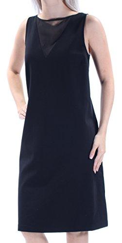Lauren Ralph Lauren Womens Ponte Mesh Cocktail Dress Black M
