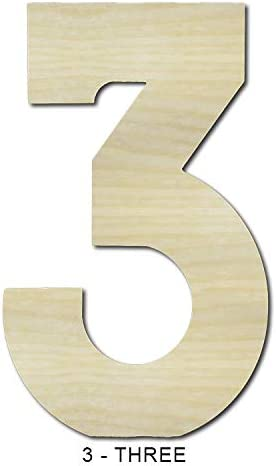 Gocutouts 12 Wooden Number 0 Premium 1//4 Baltic Birch DIY Craft Numbers 12, 0