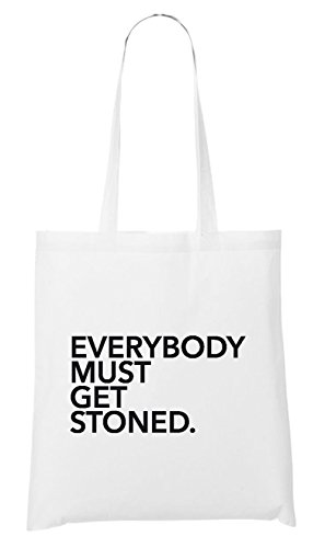 Everybody Must Get Stoned Bag White